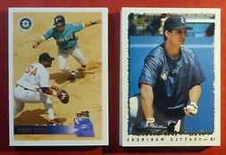 1995 & 1996 Topps Seattle Mariners Team Sets with Traded  Gr