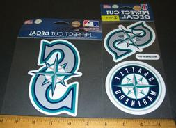 2 Lot-3 Seattle Mariners Logo Decal / Sticker for window or