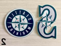 2x Seattle Mariners Car Bumper Laptop Wall Vinyl Die Cut Sti