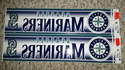 Authentic MLB Bumper Sticker Vintage Seattle Mariners Wincra