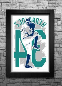 FELIX HERNANDEZ art print/poster SEATTLE MARINERS FREE S&H!