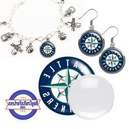 FREE DESIGN > SEATTLE MARINERS -Earrings, Pendant, Bracelet,