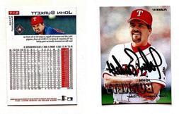 John Burkett Signed 1997 Fleer #517 Card Seattle Mariners Au