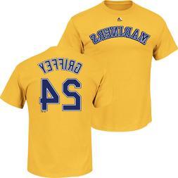 Ken Griffey Jr. #24 Seattle Mariners Majestic Men's Yellow N