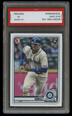 KYLE LEWIS 2020 / '20 BOWMAN Topps 1ST GRADED 10 ROOKIE CARD