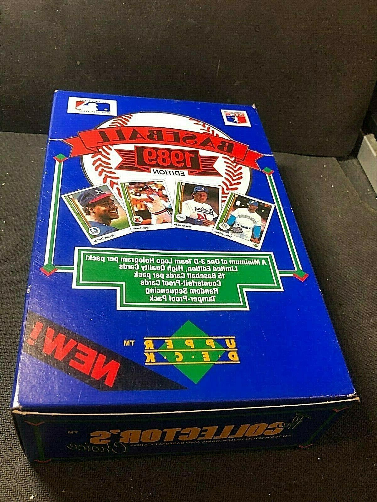 1989 upper deck low series box of