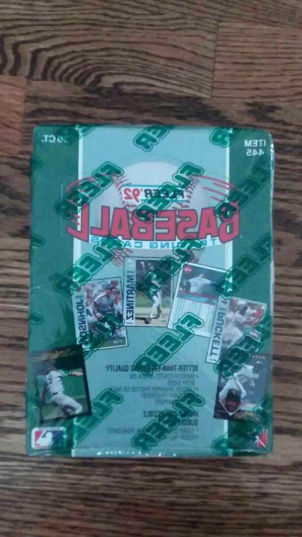 1992 fleer baseball sealed wax box 36