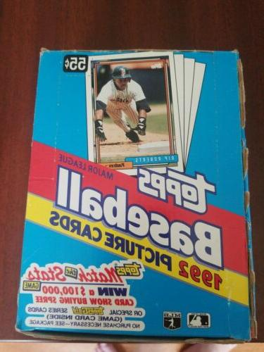 1992 topps baseball box factory sealed box