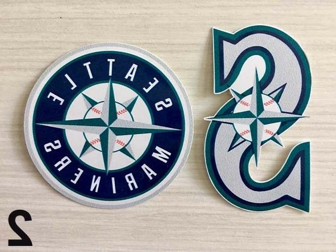2x seattle mariners car bumper laptop wall