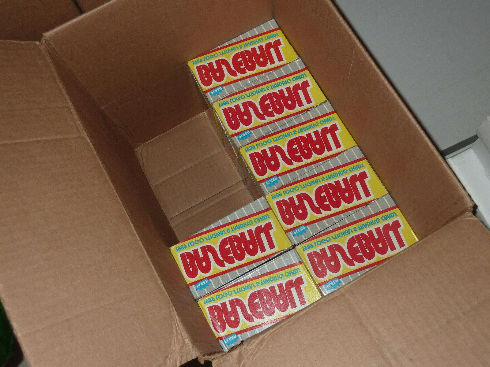 1989 BASEBALL BOXES 36 Packs/Box