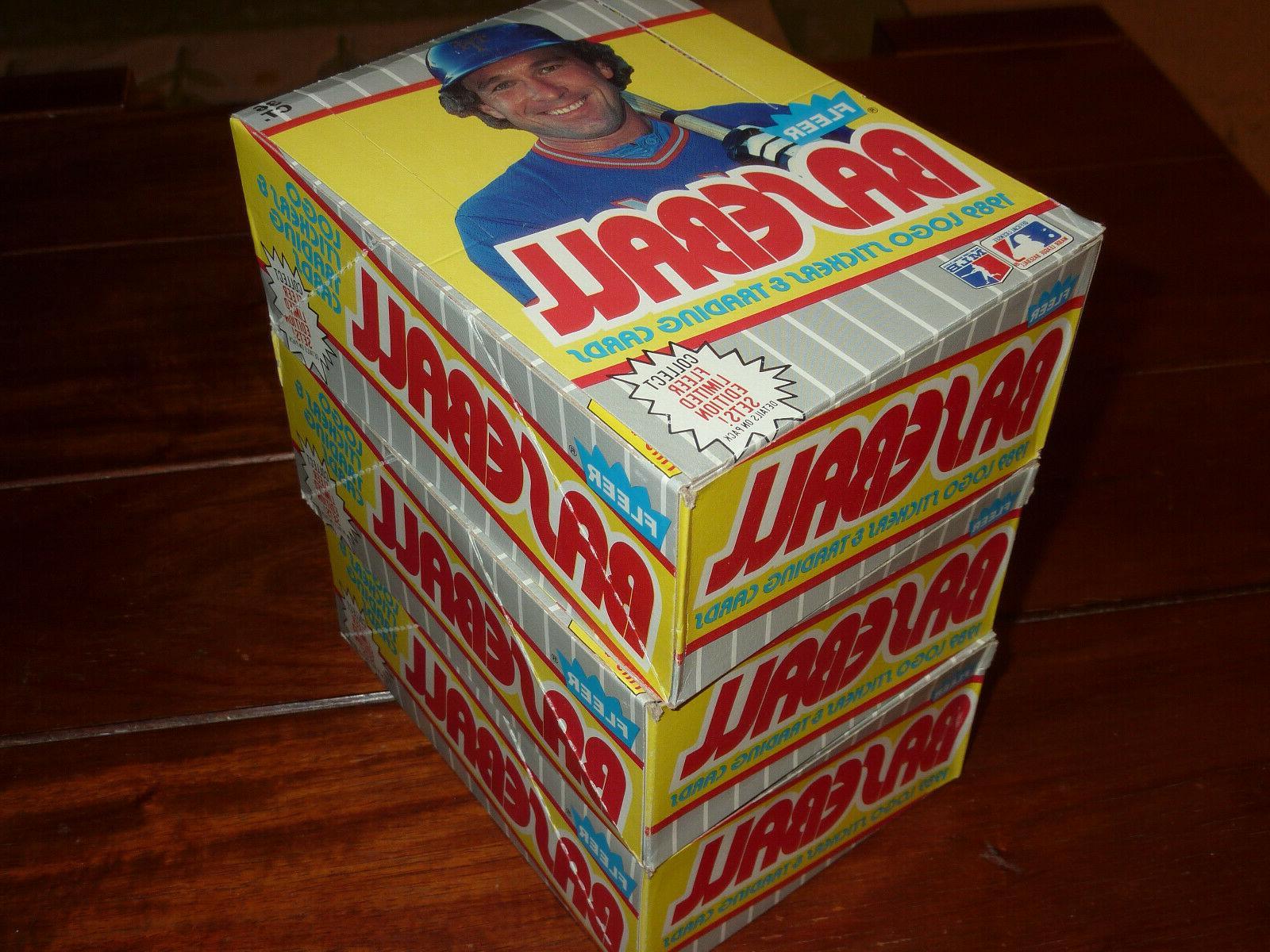 - 1989 BASEBALL WAX BOXES 36 JR RC