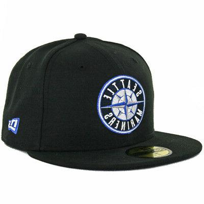 59fifty seattle mariners fitted hat black compass