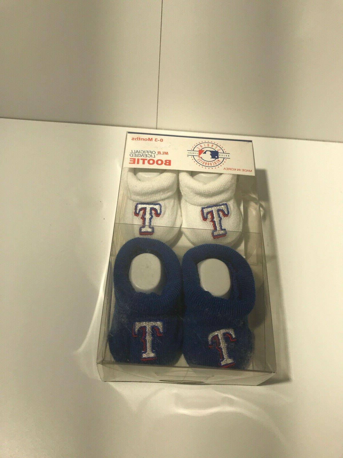 Assorted MLB Official Baby Bootie Socks Infant 0-3 Months
