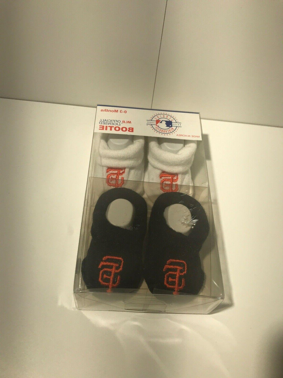 Assorted MLB Baby Bootie Socks 0-3 Two