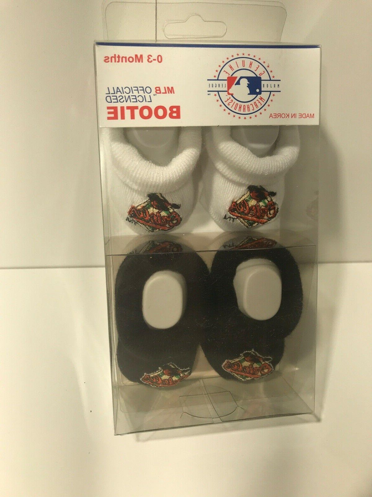 Assorted MLB Baby Bootie Socks 0-3 Pair