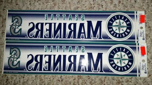 authentic mlb bumper sticker vintage seattle mariners