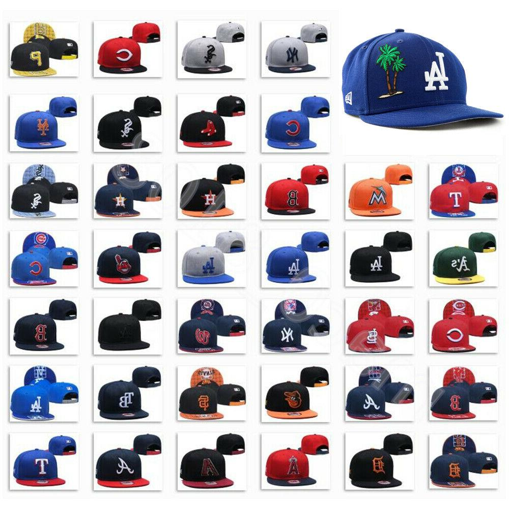 embroidered mlb teams logo baseball cap adjustable