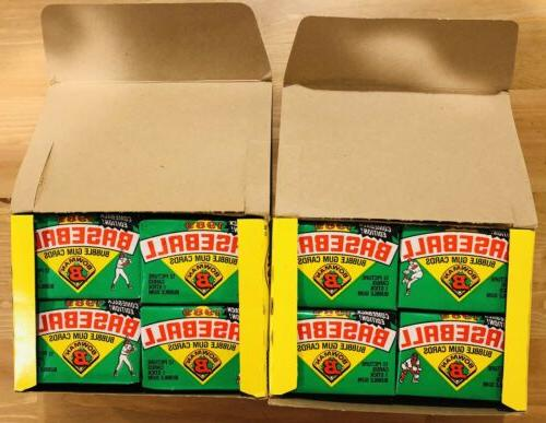 Lot Of 1989 Unopened Baseball Wax Boxes Packs