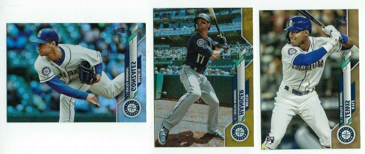mariners gold rainbow foil parallel 2020 topps