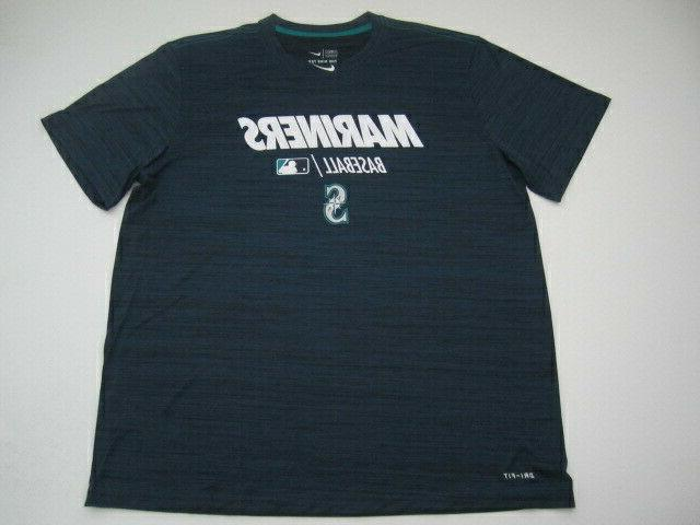 mens xxl seattle mariners dri fit blue