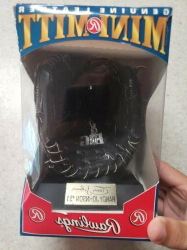 mini mitt leather baseball glove randy johnson