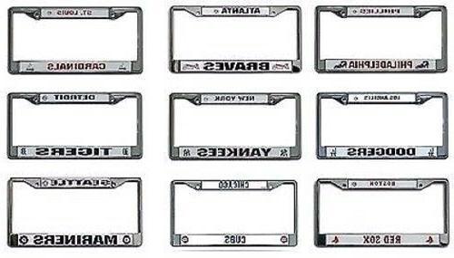 mlb chrome license plate frame by select