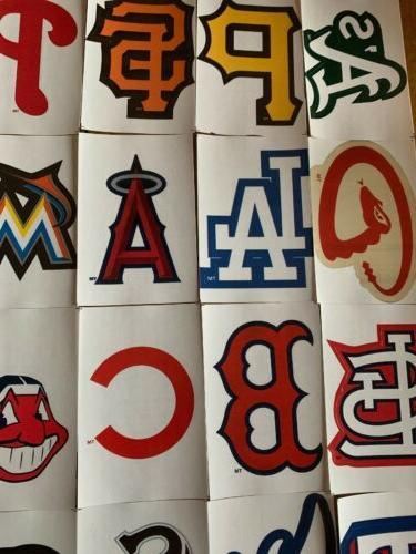 MLB Logo Baseball Stickers Choose Team 30 Free