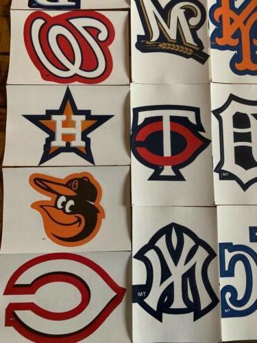 MLB Baseball Decal Stickers 30 Teams