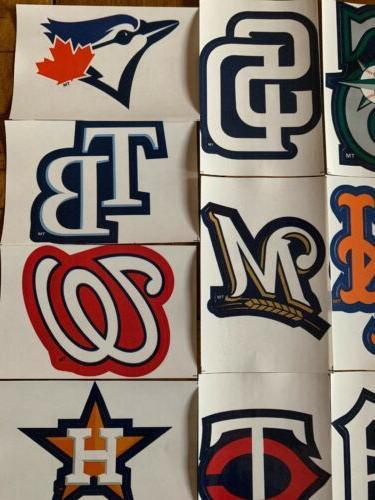 MLB Decal Stickers Team 30 Teams