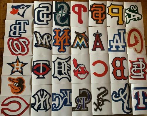 mlb logo baseball decal stickers choose your
