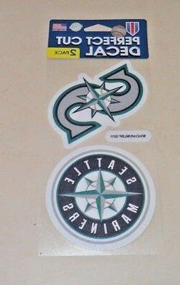 MLB SEATTLE MARINERS  2 4X4 DECALS FAST FREE SHIPPING