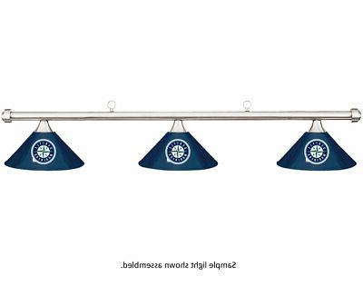 mlb seattle mariners blue metal shade chrome