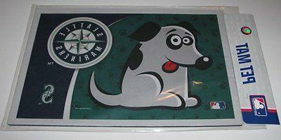 new seattle mariners neoprene pet dog bowl
