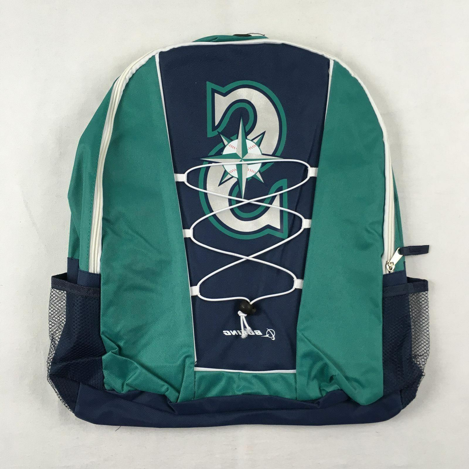 new seattle mariners teal navy backpack