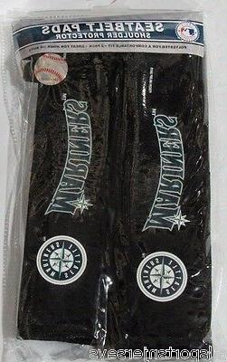 MLB Seattle Mariners Seat Belt Pads Velour Pair by Fremont D