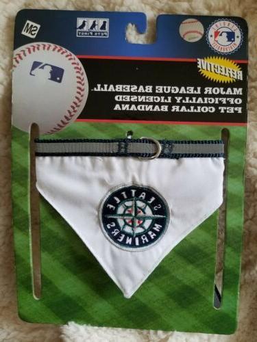 S, M Seattle Baseball MLB Cat Bandana style adjustable