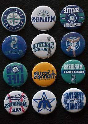 seattle mariners 1 1 2 inch buttons