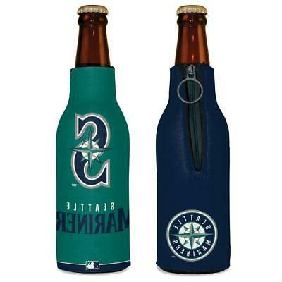 seattle mariners 12oz two sided bottle cooler