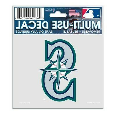 seattle mariners 3 x4 multi use decal