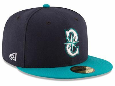 seattle mariners alt 59fifty fitted hat dark