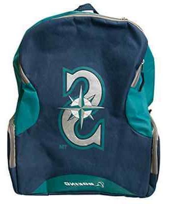 seattle mariners backpack book school bag blue