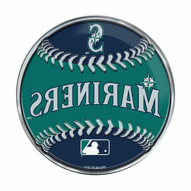 seattle mariners baseball emblem mlb 3 25