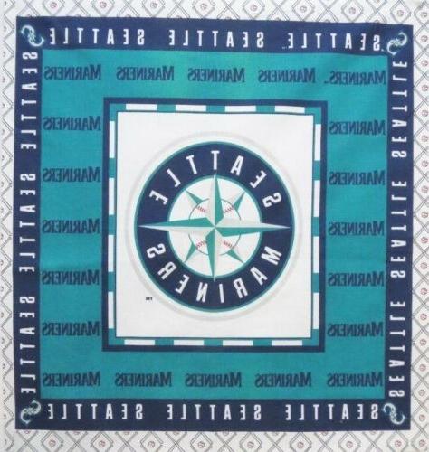 seattle mariners baseball fabric star logo cotton