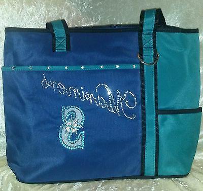 seattle mariners blinged rhinestone purse tote bag