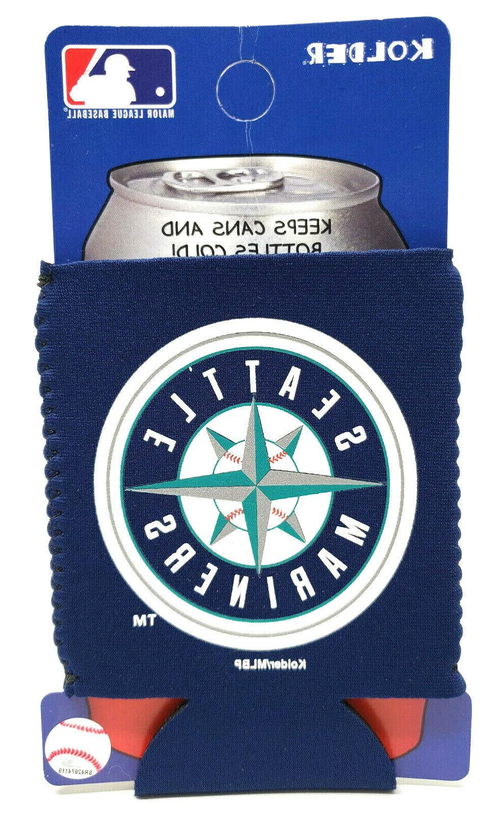 seattle mariners can cooler collapsible bottle holder
