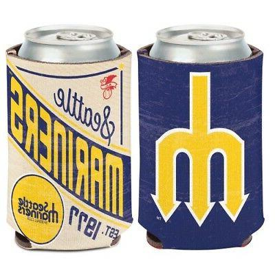 seattle mariners cooperstown collection neoprene can bottle
