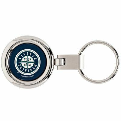 seattle mariners domed metal keychain keyring new