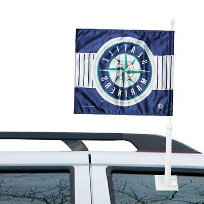 seattle mariners double sided car flag