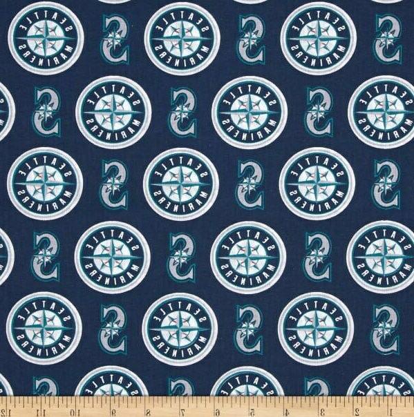 seattle mariners fabric 10 x58 cotton good