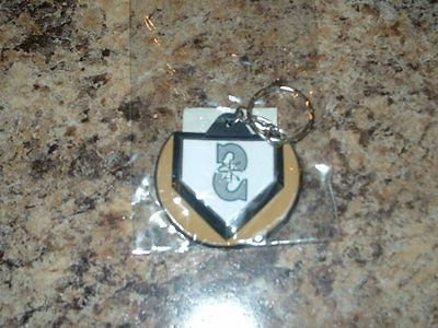 seattle mariners home plate shaped key chain